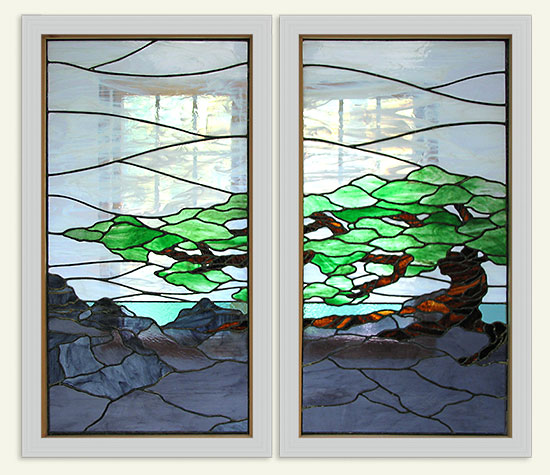 Bonsai Stained Glass Windows