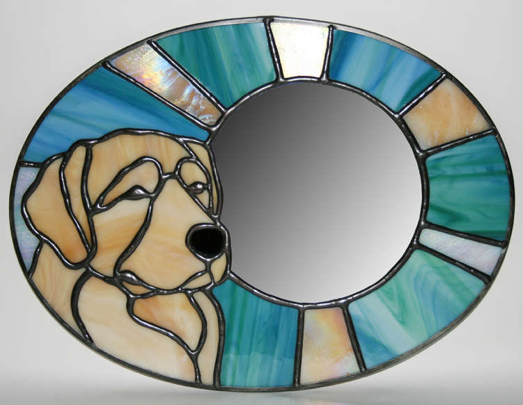 Large Golden Retriever Mirror Trophy