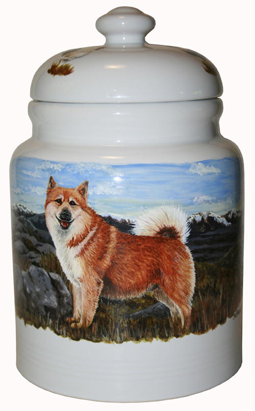 Icelandic Sheepdog Painted Canister