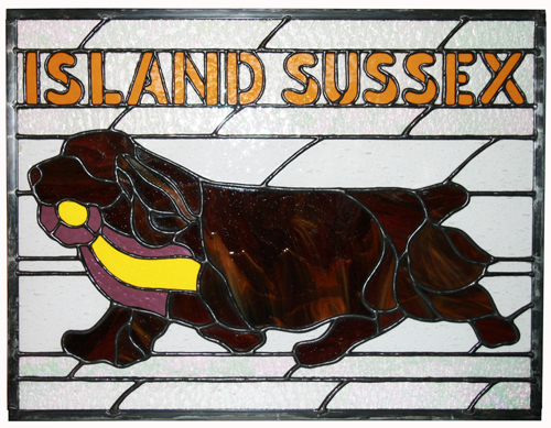 Island Sussex Stained Glass Panel