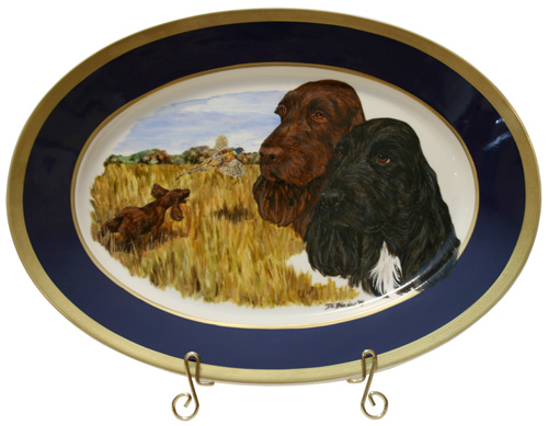 Field Spaniel Best of Breed Painted China Platter