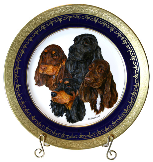 Field Spaniel Best Of Opposite Plate