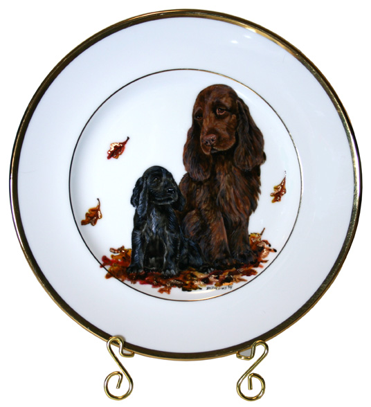 Field Spaniel Back To The Future Sweeps Plate